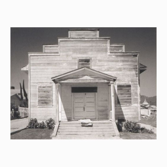 Ansel Adams, Polaroid, Meeting House, Davenport, 1970s