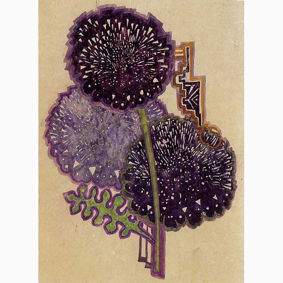 Charles Rennie Mackintosh, Dahlias, Hunterian art gallery, Mackintosh