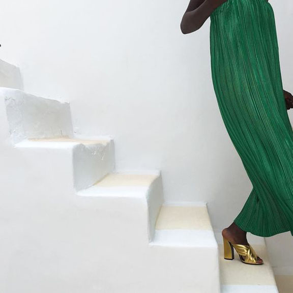 Unknown Photograph of Woman on Stairs