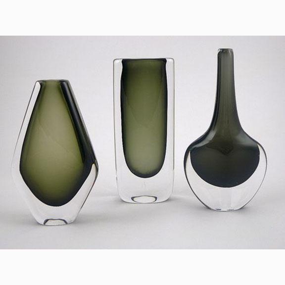 Nils Landberg, Dusk Series, Vases for Orrefors