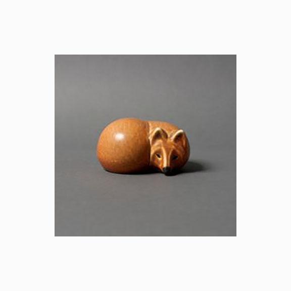 Gustavsberg Lisa Larsson, Figure Fox, Skansen Mid Century Swenden Collectible Stoneware