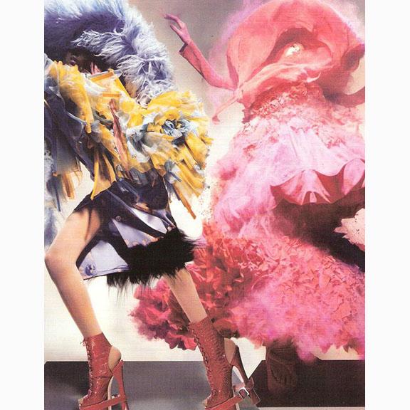 Nick Knight, Jourdan Dunn and Lily Donaldson, British Vogue, December 2008