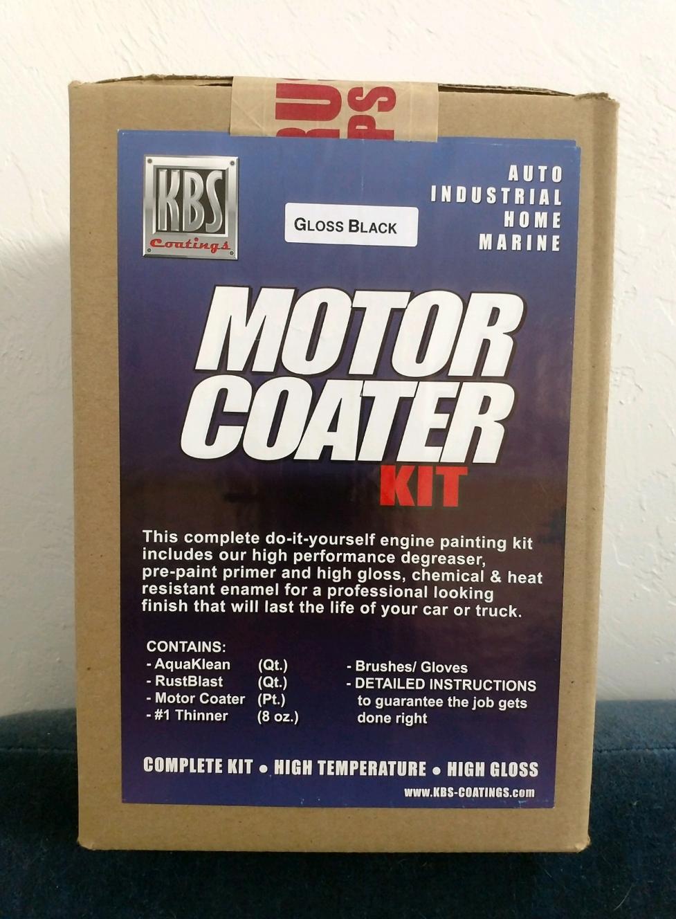 Motor Coater Kit, Gloss Black