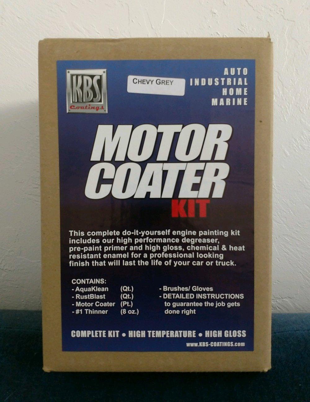 Motor Coater Kit, Chevy Grey