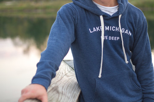 0908354d0e2 Men s Lake Michigan Navy Hoodie — Northern Etiquette Apparel