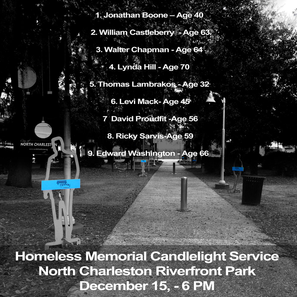 Those who died homeless in Charleston in 2016