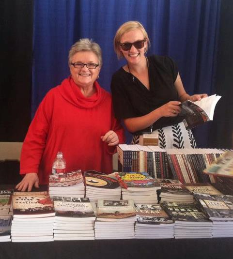 Rosa & Christen Thompson, Editor at The History Press, at the Texas Book Festival in Austin, TX fall 2014.
