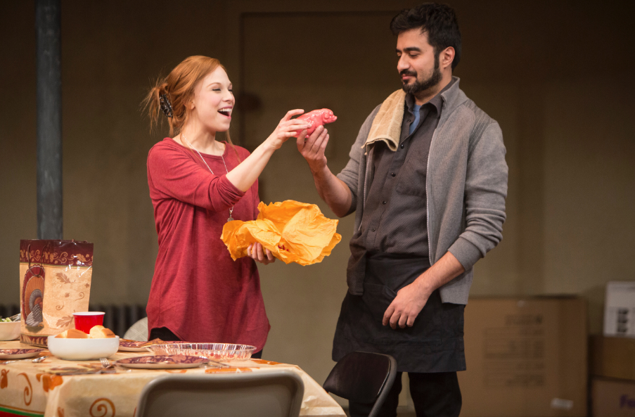 Lauren Marcus and Fajer Kaisi in THE HUMANS at St. Louis Rep - Photo by Jerry Naunheim, Jr.