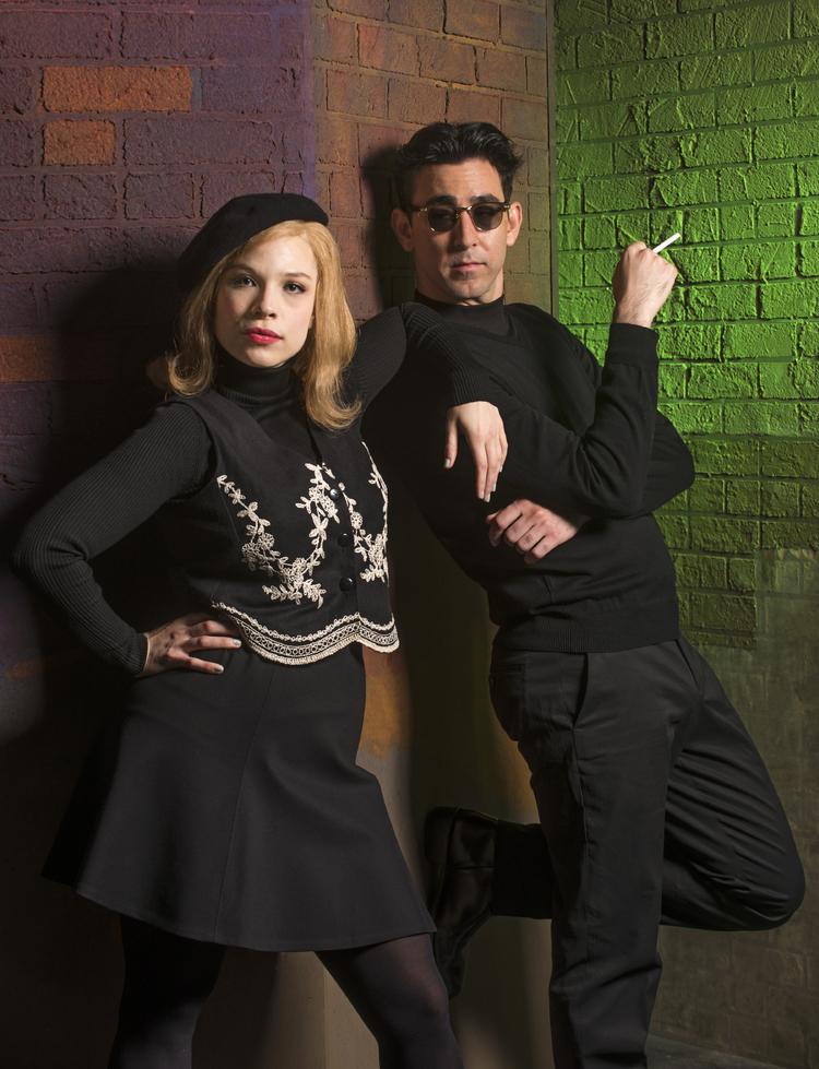 Lauren Marcus and Max Crumm in BEATSVILLE at Asolo Rep