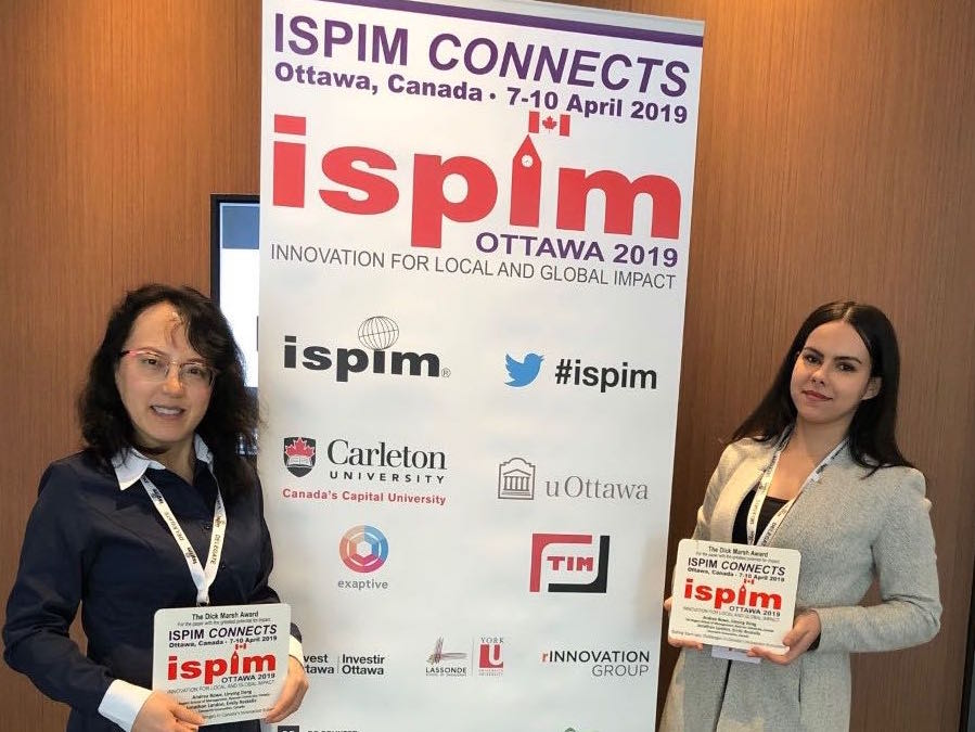 Connectiv Innovation Research wins Top ISPIM Award - Selected for the Dick Marsh Award for the paper with the greatest potential for impact
