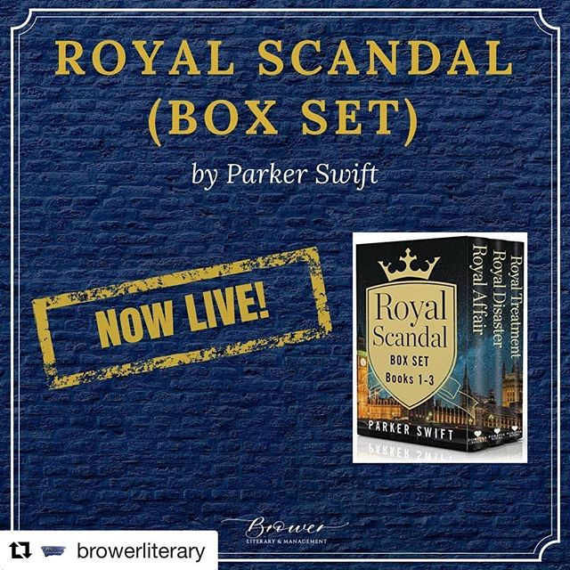 "#Repost @browerliterary with @get_repost ・・・ ROYAL SCANDAL SERIES by  @parker.swift is now available in a BOXED SET! Grab yours now! . . Hailed by #1 New York Times bestseller Vi Keeland as being ""addictive, sexy and beautifully written."" Don't miss this special royal three-book collection! . . . #BrowerLiterary #literaryagent #readnow#authorsofinstagram #writersofinstagram #bookrelease #bookquotes #quotes #books #amreading #bookstagram #writer #writerlife #writing #bookbestseller #romance #romancebook #bookhotties #royalscandalseriesbyparkerswift #parkerswiftbooks #royaltyinromance #royalbooks #royaltybooks #parkerswift #royalwedding"