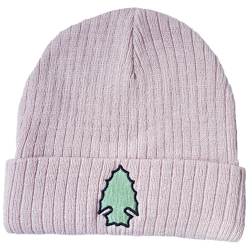 902f57f2b Rib-Stitch Logo Beanie -Pink