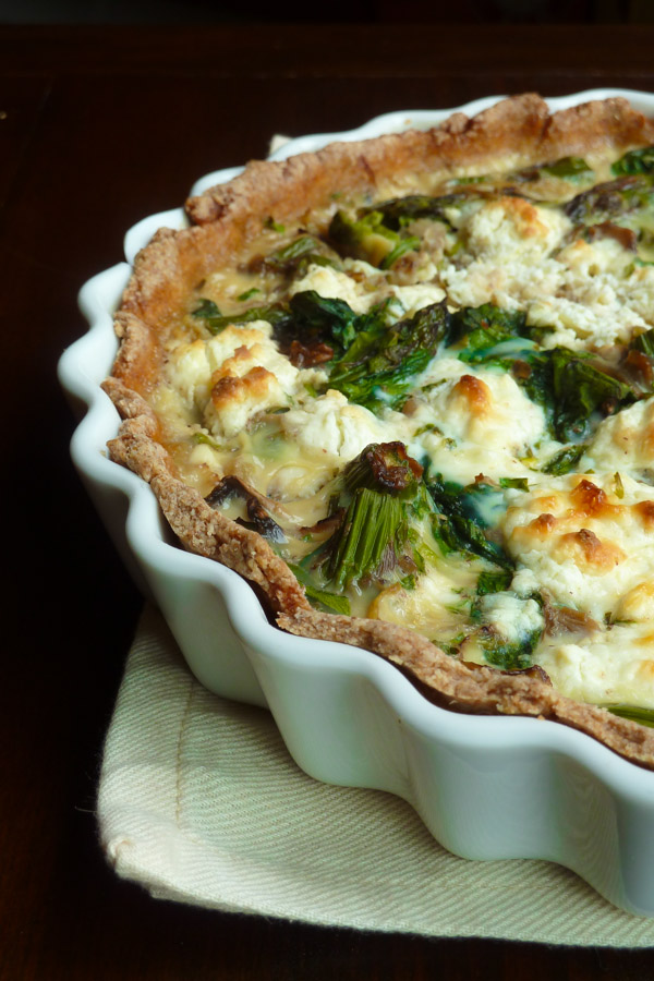 Vegetable Quiche with Homemade Crust