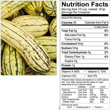delicata squash nutrition fasts