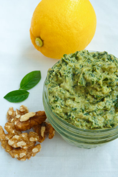 Eat Clean Diet Basil Lemon Pesto