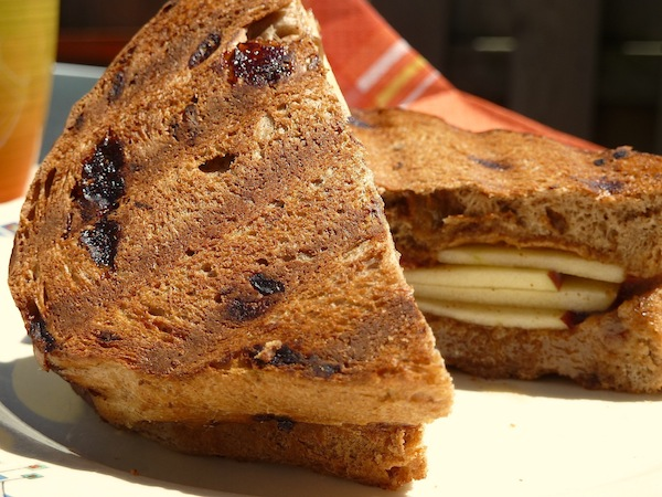 Almond Butter and honey Sandwich