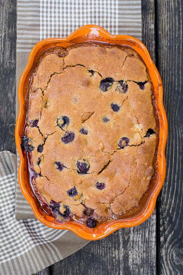 Gluten Free Peach-Blueberry Cobbler