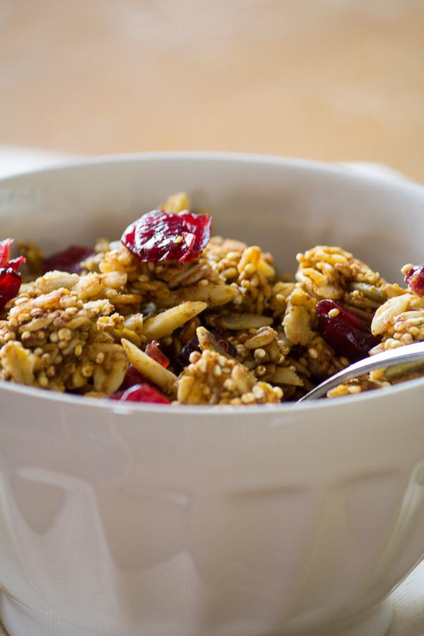 Maple Pumpkin Granola | ediblesoundbites.com