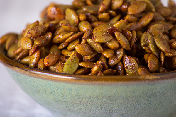 Pumpkin Pie Spice Roasted Pepitas