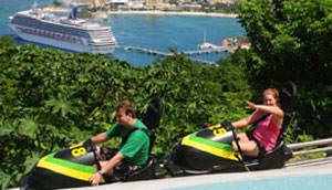 Mystic Mountain   From Ocho Rios pier or nearby hotels,   US $137 per person  (Inclusive of Zip Line, Chair Lift & Bobsled).