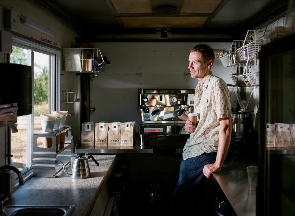 Derek, Founder of Ohm Coffee Roasters