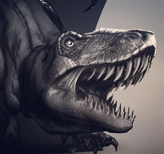 Doing some concept exploration with the skin texture. Originally I was going to keep it simple, but I think it deserves more brainstorming.  #lifeofanartist #creativelife #zbrush #photoshop #designideas #outlawhue #3d #doodle #creaturedesign #digitaldraw #wip #wacom #dinosaurart #sketching #brainstorming #conceptartist #tshirtdesign #art #livecreatively #animalstudy #mondayvibes #sketchdaily