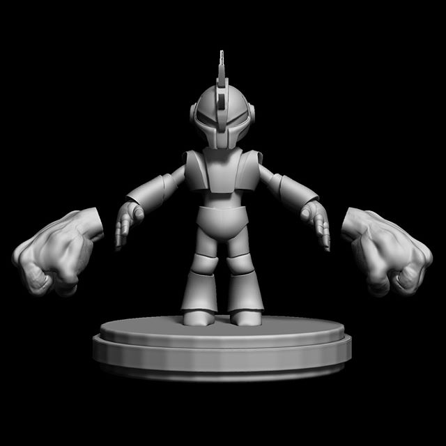 Revisiting model I created. Originally a stylized super armored version of my son.  #outlawhue #zbrush #3d #zbrushsculpt #preproduction #wip #characterdesign #digitalsculpting #stylizedcharacter #wacom #armorsuit #cartoon #superhero #cgmodel #characterart #conceptdesign #3dcharacter