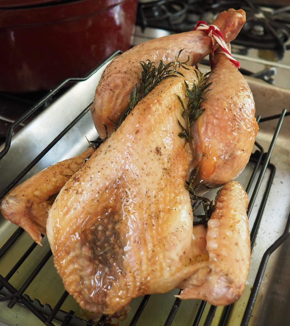 Roast Chicken with Herbs and Garlic