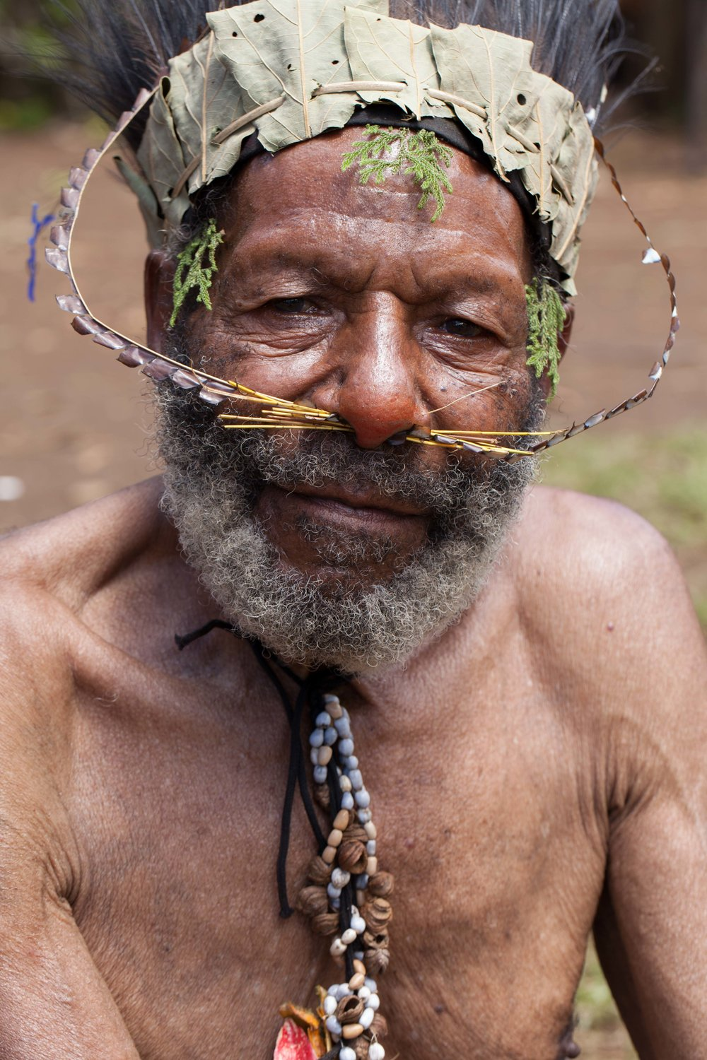 Elder of the Bollen village. Chimbu province