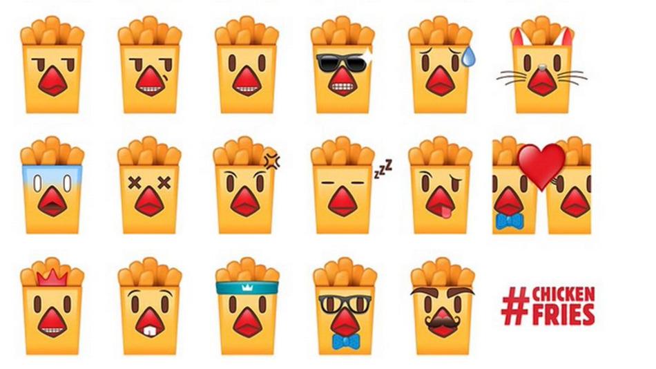 chicken fries emoji