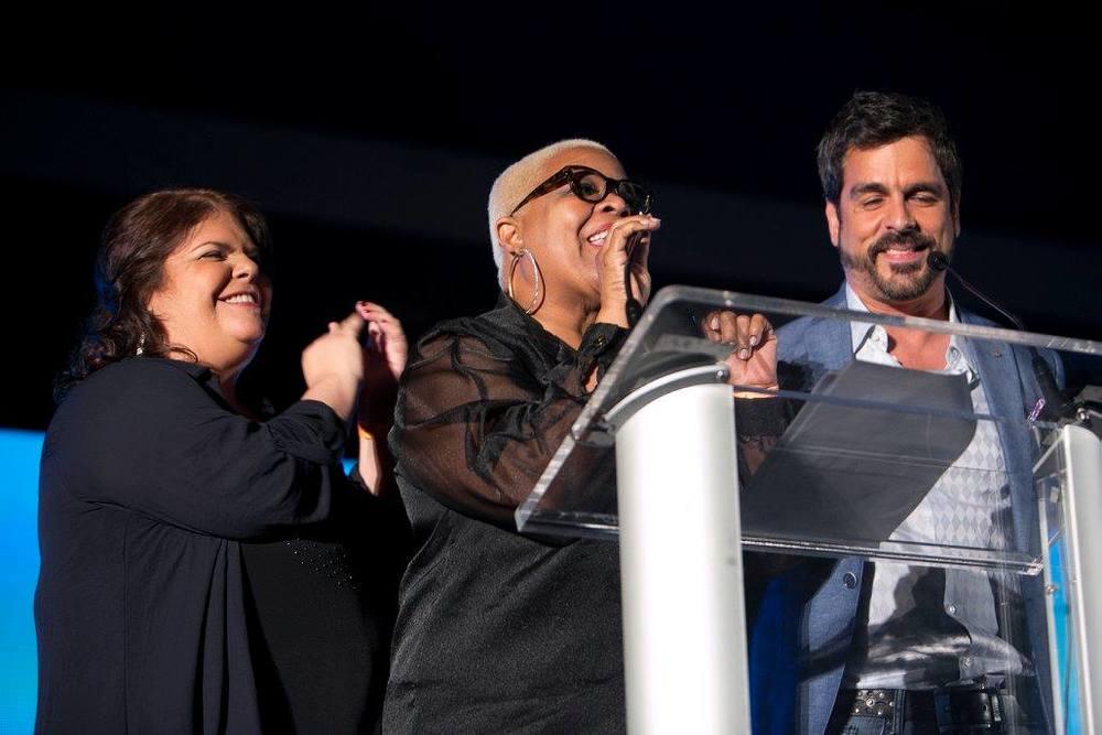 Olly Fernández, Arlette Ayala y Alex Aguilera