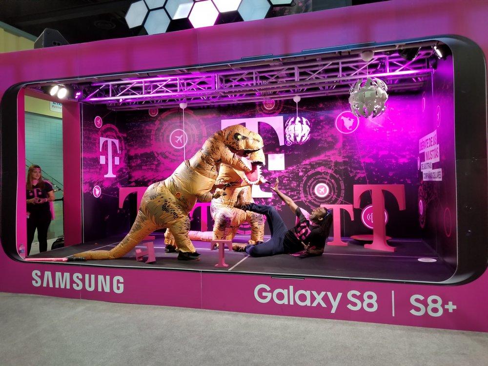 Jaime Espinal formó parte del exhibidor de T-Mobile. (Foto: Lillian Agosto)