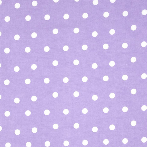 "Dot Lilac Style: Kids Fabrics ID: 12661 Price: $11.90 per yard Content: 100% Cotton 54"" Wide Repeat"
