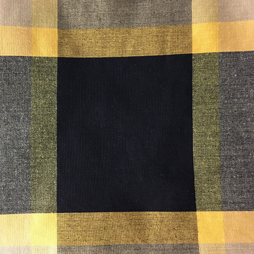 195808-161611076-LG-Plaid  Style: Checks & Plaids ID: 8117 Color: Yellow/Black Retail Price: $32.90 per yard Content: 82% Cotton