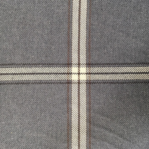 Boone Pepper Plaid  Style: Checks & Plaids ID: 16062 Color: Gray Retail Price: $24.90 per yard Content: 88% Cotton, 12% Polyester