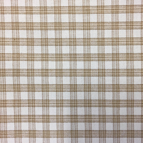 Highland Check  Style: Checks & Plaids ID: 14996 Color: Coconut Retail Price: $20.90 per yard Content: 100% Cotton