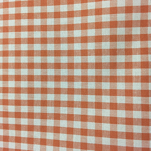 Lincolnshire Paprika  Style: Checks & Plaids ID: 16140 Color: Orange Retail Price: $29.90 per yard Content: 100% Cotton