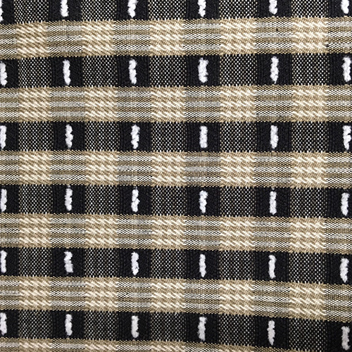 Sm Fun Stripe Tiger  Style: Checks & Plaids ID: 10749 Color: Black/Tan Retail Price: $16.90 per yard Content: 100% Cotton