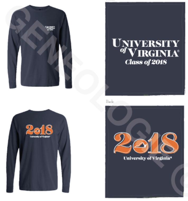 Comfort Colors Navy Long Sleeve Shirt ($15)