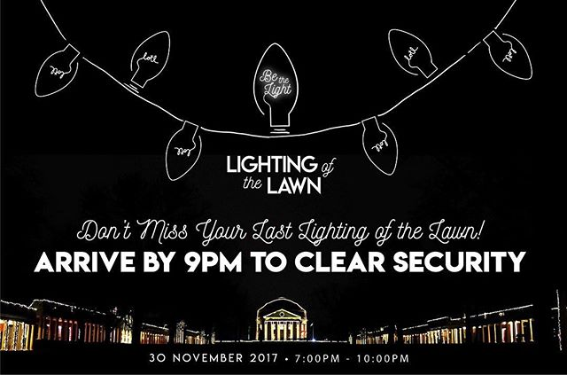 TODAY IS THE DAY! We are so excited for LOTL and truly think it's the best one yet! Don't miss your last LOTL - Be sure to arrive to the Lawn by 9PM to insure you have time to clear security! ✨ #BeTheLight