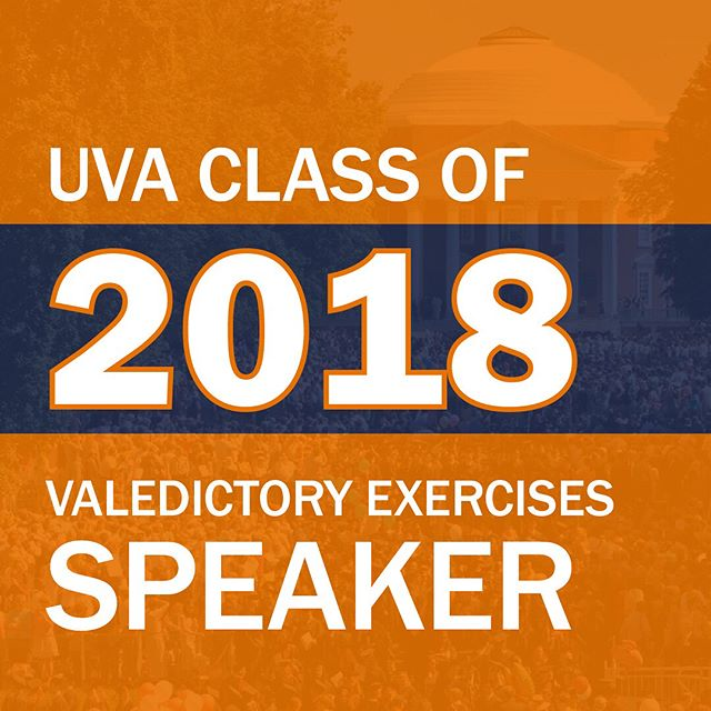 Swipe to reveal our 2018 Valedictory Exercises Speaker! ⚪️ ⚪️ ⚪️ ⚪️ We are so excited to announce Chris Long, two time Super Bowl Champion, as our keynote speaker! Wahoowa! #uva18 #uvagrad