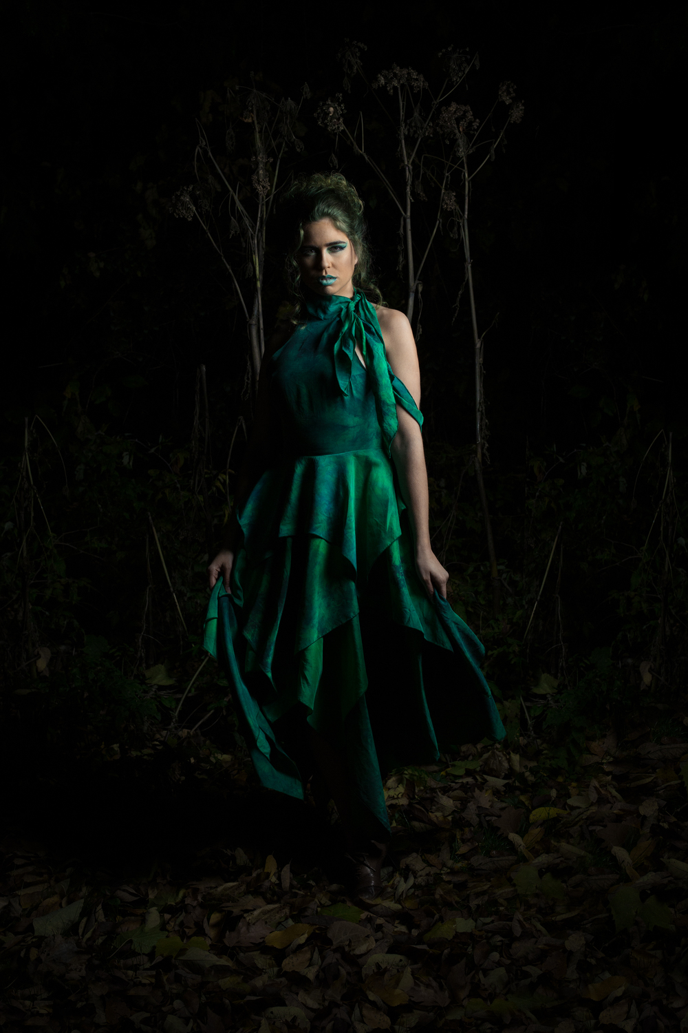 Photography: Lance Kenneth Blakney l Model: Sophie H-L l Hair: Mike Drost l MUA: Billy Peterson l Fashion Design: Michelle Duncan Surface Design/Producer: Dee Wilkie