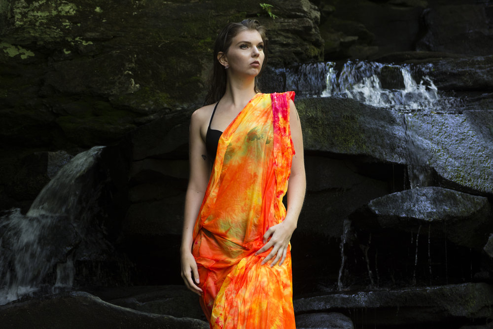 Photography: Nathanael Patriquin l Model: Addie Van Rijn l Silk: Dee Silkie