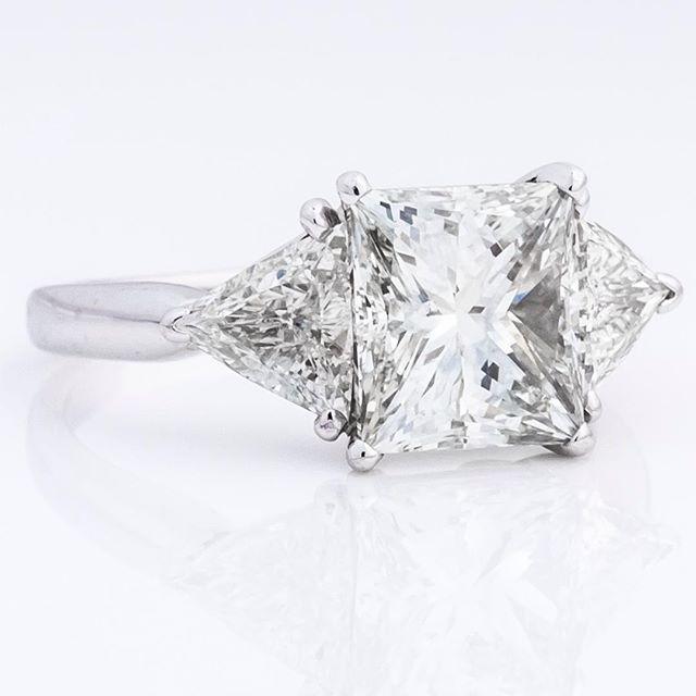 Bling for days #diamonds #trillions #trillioncut #platinum #radiant #hot #ring #weddingring