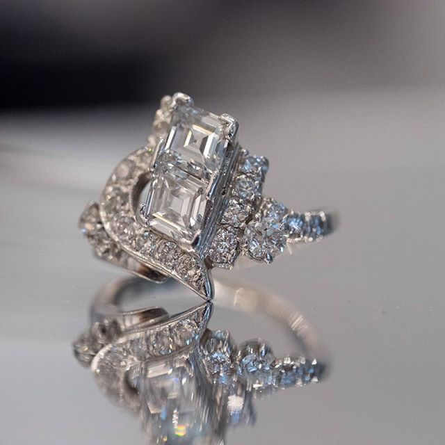 Such a unique and intricate diamond ring 💍 #engagementring #unique #intricate #antique