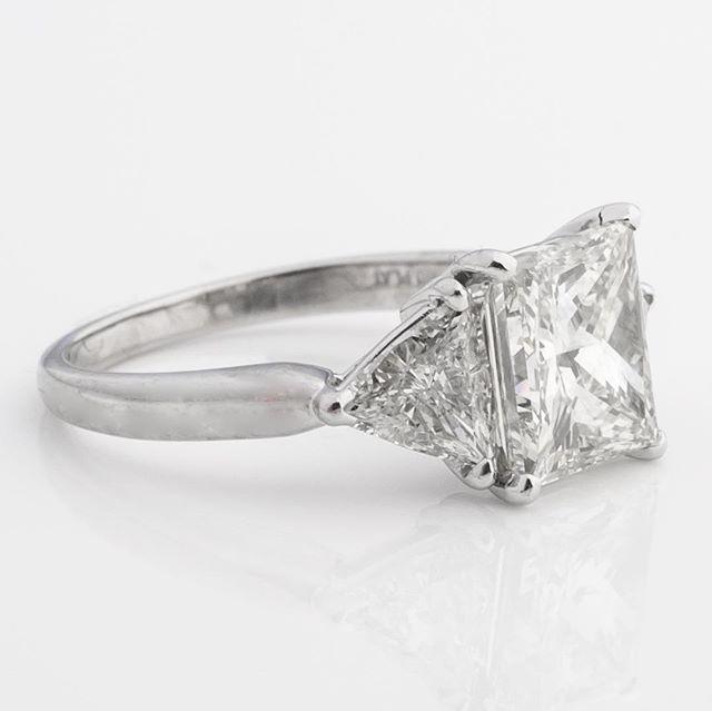Classic 💍💍💕💕💕#platinum #diamonds #engagementring #trillions #buy #sell #charleston #lowcountry
