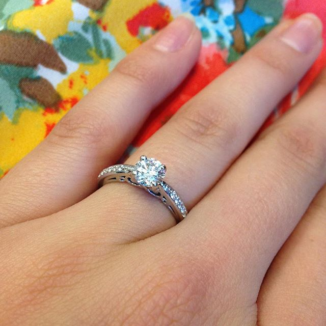 Engagement ring 💍 #bling #diamondring #engagementring #charleston buy #sell #gia