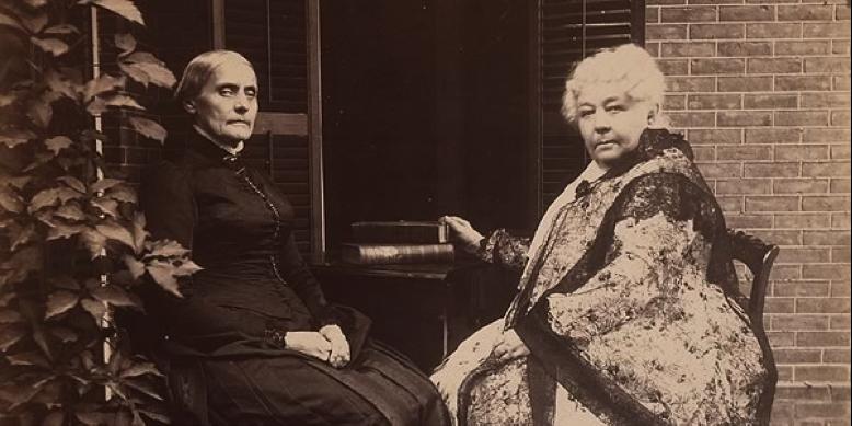 Susan B. Anthony (1820-1906) and Elizabeth Cady Stanton (1815-1902)