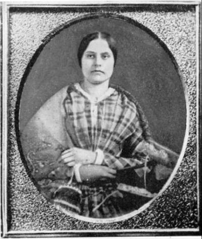 Twenty-eight-year-old Susan B. Anthony in 1848, the year her soon-to-be friend, Elizabeth Cady Stanton, started the women's rights movement, in Seneca Falls, New York.