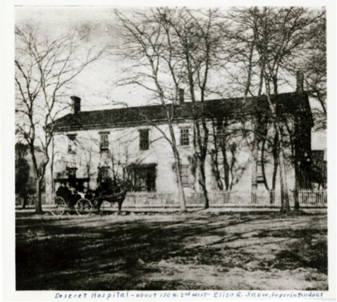 Salt Lake City's woman-run Deseret Hospital, where Dr. Martha Hughes Cannon practiced medicine.